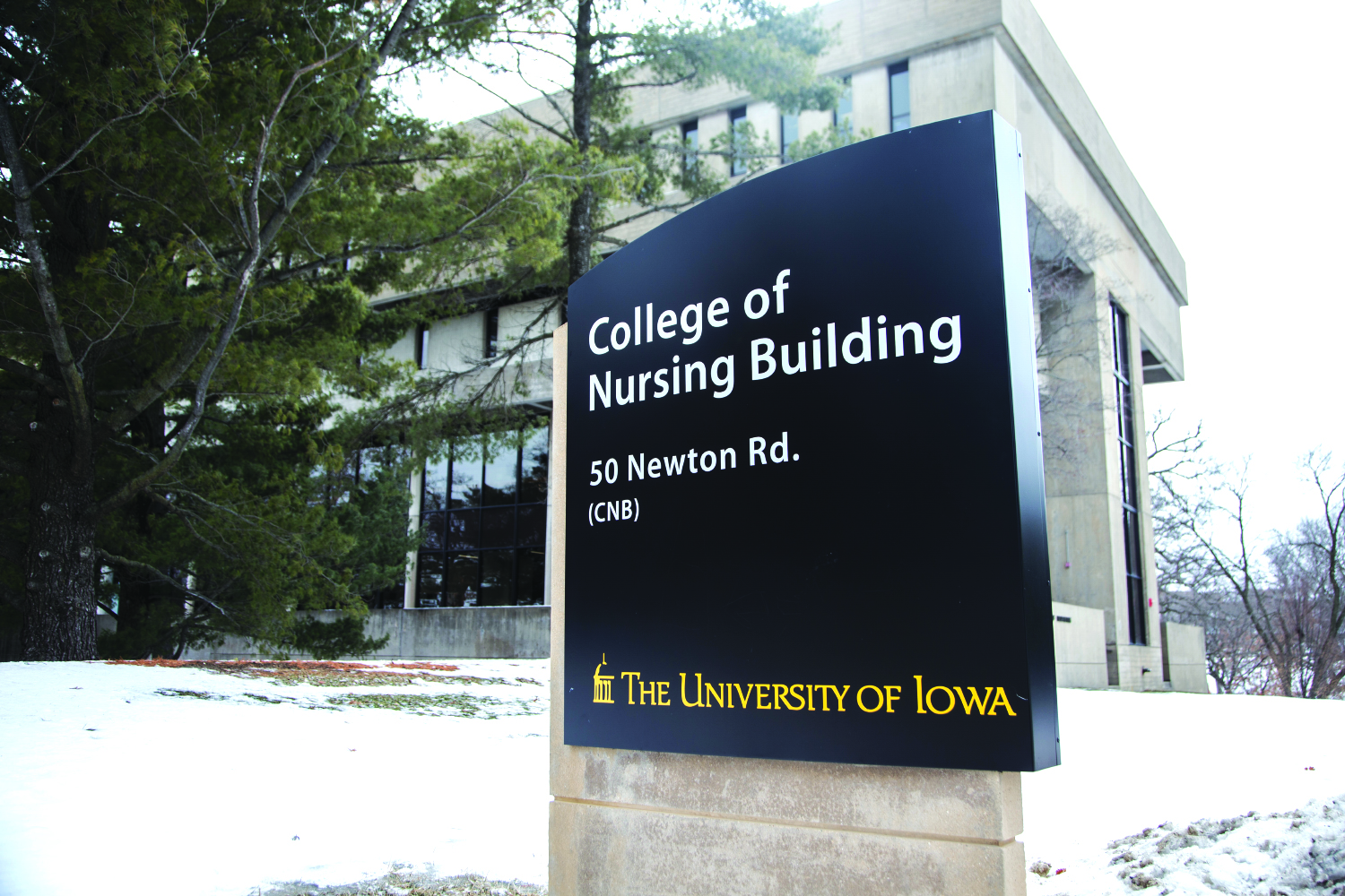 The College of Nursing Building is seen in Iowa City on Monday, February 25, 2019.