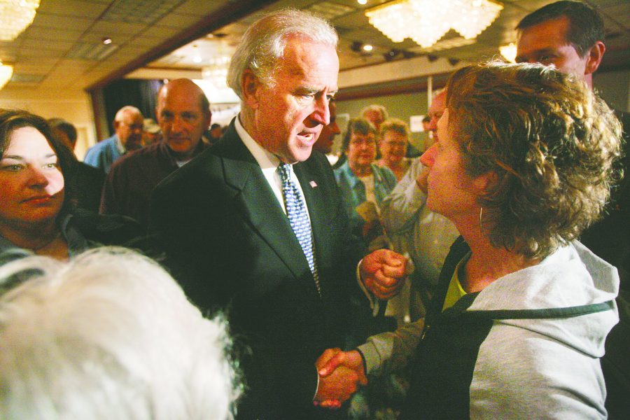 Then-Delaware+senator+and+presidential+candidate+Joe+Biden+shakes+hands+with+Cedar+Rapids+resident+Leni+Stastny+on+Sunday%2C+May+6%2C+2007.+Biden+was+in+Cedar+Rapids+that+Sunday+to+speak+about+his+campaign+platforms+and+answer+questions.