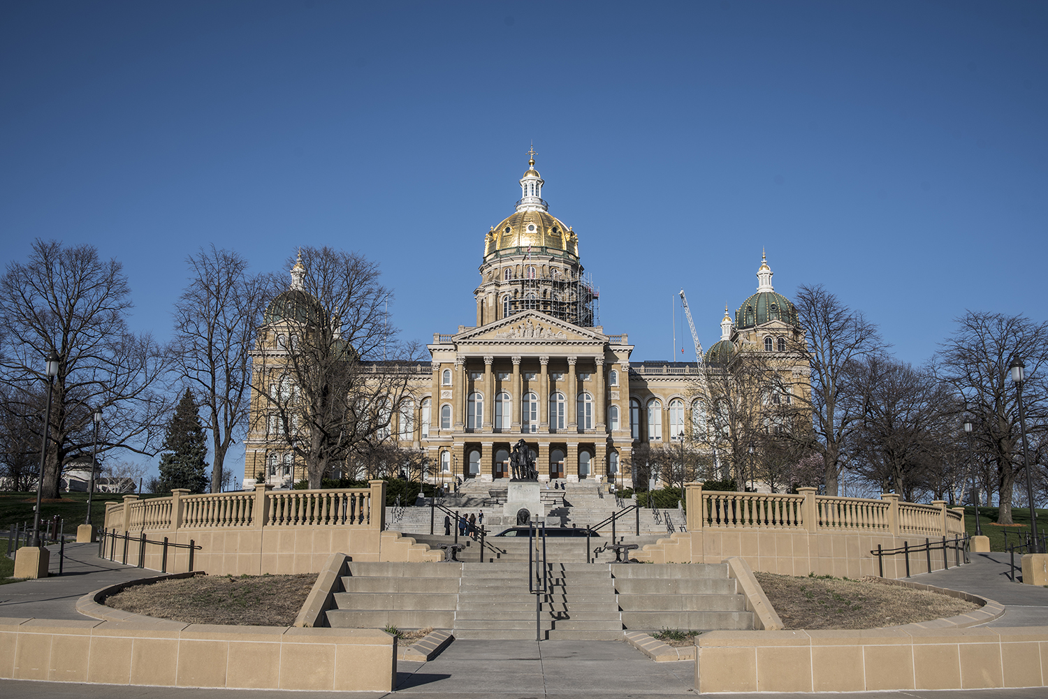 The Capitol building in Des Moines is pictured on April 29, 2018.