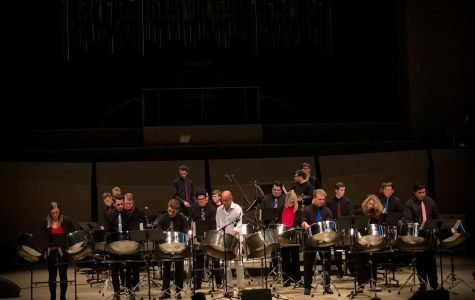 Iowa Steel Bands drumming into town
