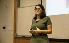 Doctor Mona Hanna-Attisha speaks during an event for the University of Iowa College of Public Health's Book Club at the College of Public Health on Monday, March 25, 2019. Doctor Mona spoke about her experiences exposing the water crisis in Flint, Michigan. The New York Times named Doctor Mona's book