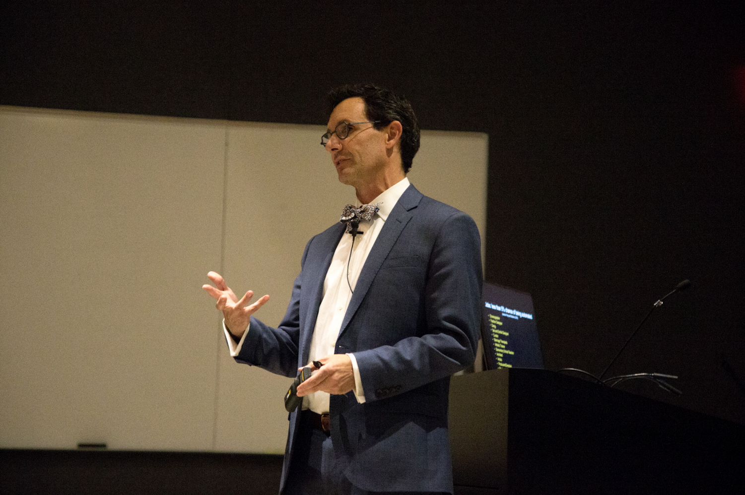 Dean of the Herberger Institute for Design and the Arts at Arizona State University, Steven Tepper is seen on Tuesday, April 10th 2019. Steven Trepper gives a lecture on creativity, culture, and social change in the West Art Building.
