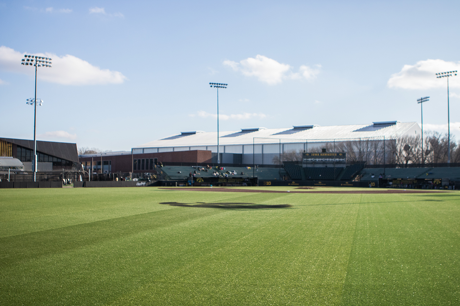 Duane Banks Field is seen between games during a baseball doubleheader between Iowa and Cal-State Northridge on Sunday, March 17, 2019.