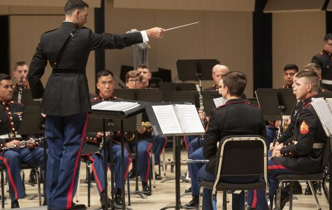 Marines are musicians, too; Marine Corps Band plays Voxman