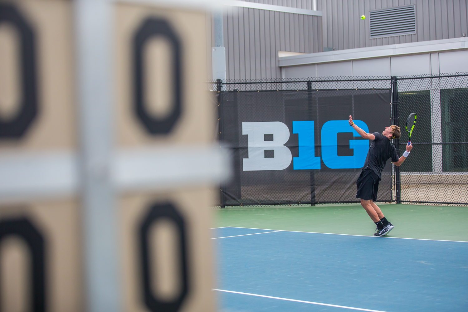 Iowa%27s+Nikita+Snezhko+hits+a+serve+during+a+men%27s+tennis+match+between+Iowa+and+Ohio+State+at+the+HTRC+on+Sunday%2C+April+7%2C+2019.+The+Buckeyes+defeated+the+Hawkeyes%2C+4-1.