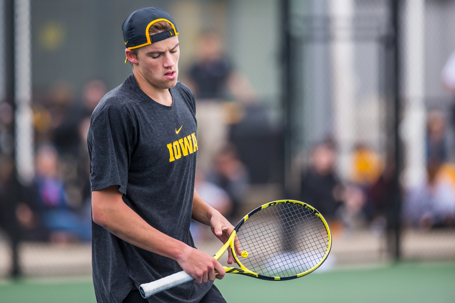 Iowa%27s+Joe+Tyler+reacts+to+a+point+during+a+men%27s+tennis+match+between+Iowa+and+Ohio+State+at+the+HTRC+on+Sunday%2C+April+7%2C+2019.+The+Buckeyes+defeated+the+Hawkeyes%2C+4-1.