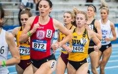 Iowa's Megan Schott runs in the women's 1500m race at the 2019 Drake Relays in Des Moines, IA, on Friday, April 26, 2019. Schott finished sixth with a time of 4:28.00.