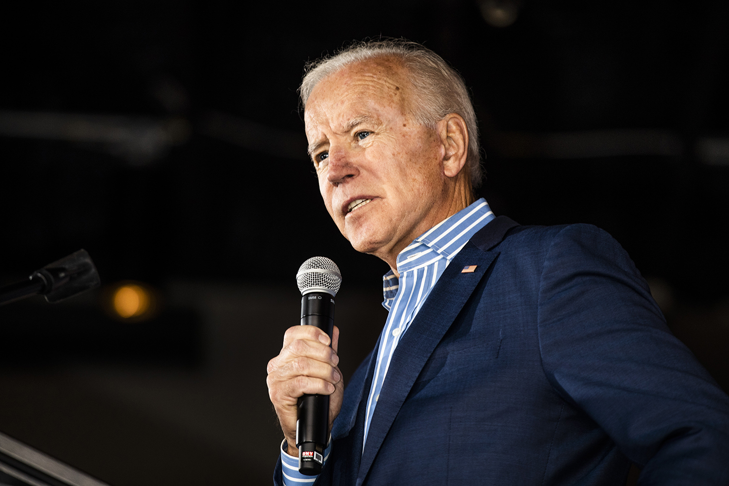 Former Vice President and 2020 Democratic Presidential candidate Joe Biden addresses issues in society at Big Grove Brewery in Iowa City on Wednesday, May 1, 2019. Iowa City was the second stop on the Iowa Kickoff Tour for the Biden campaign.