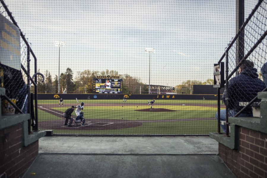 University+of+Iowa+Infielder+Matthew+Sosa+bats+during+the+baseball+game+at+Duane+Banks+Stadium+on+Friday%2C+May+3%2C+2019.+The+Hawkeyes+beat+the+Eaters+6-3.+