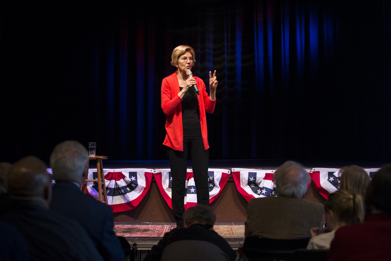 Senator Elizabeth Warren address a crowd of voters at CSPS Hall in Cedar Rapids. The event was hosted by the Linn Phoenix Club for Senator Elizabeth Warren.