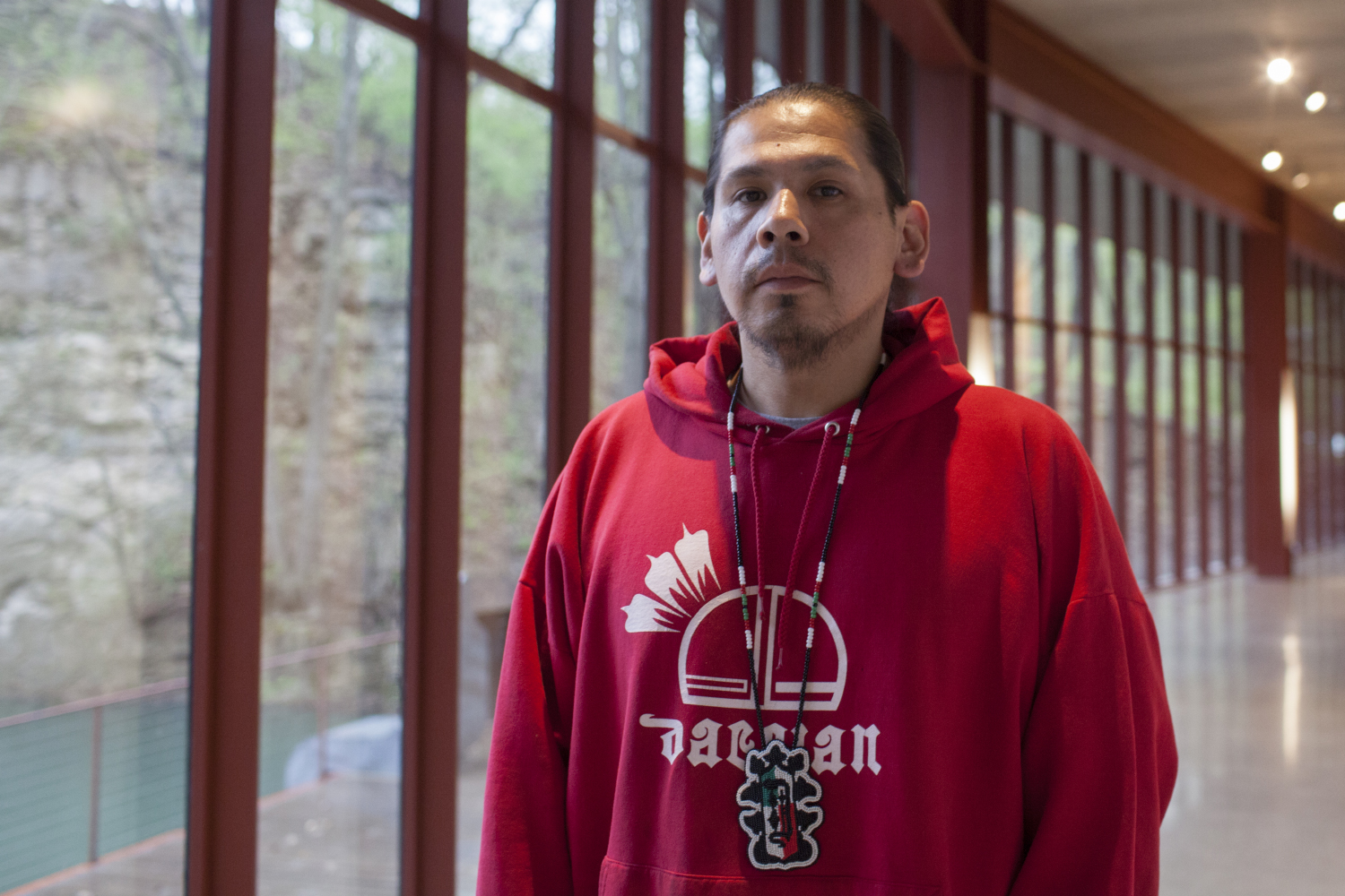 Artist and writer Dawson Davenport is pictured on Thursday, April 25, 2019. His art promotes the diversity within the Native American communities and works to encourage younger artists to continue their artwork.