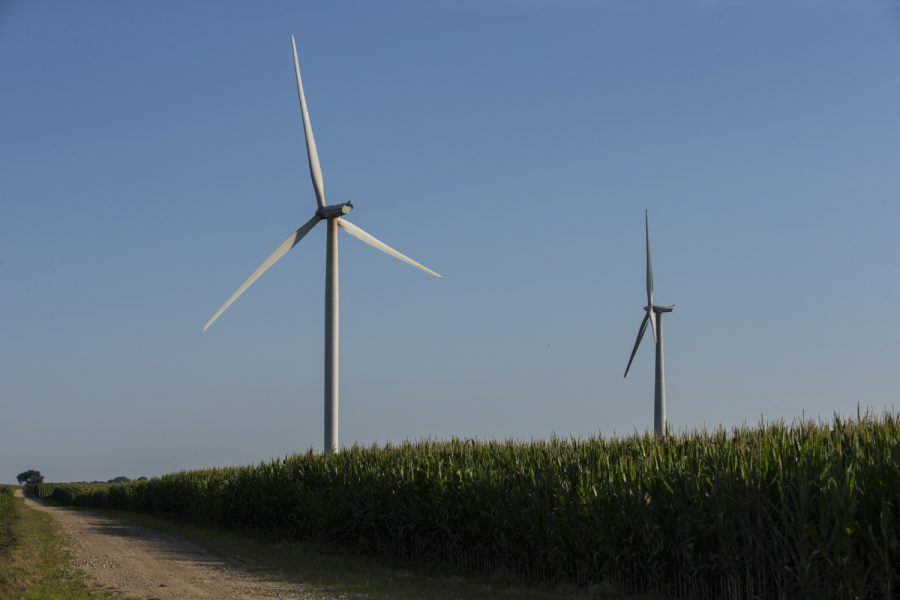 Windmills+are+seen+in+Mechanicsville%2C+IA+on+Wednesday%2C+July+11%2C+2018.+%28Nick+Rohlman%2FThe+Daily+Iowan%29
