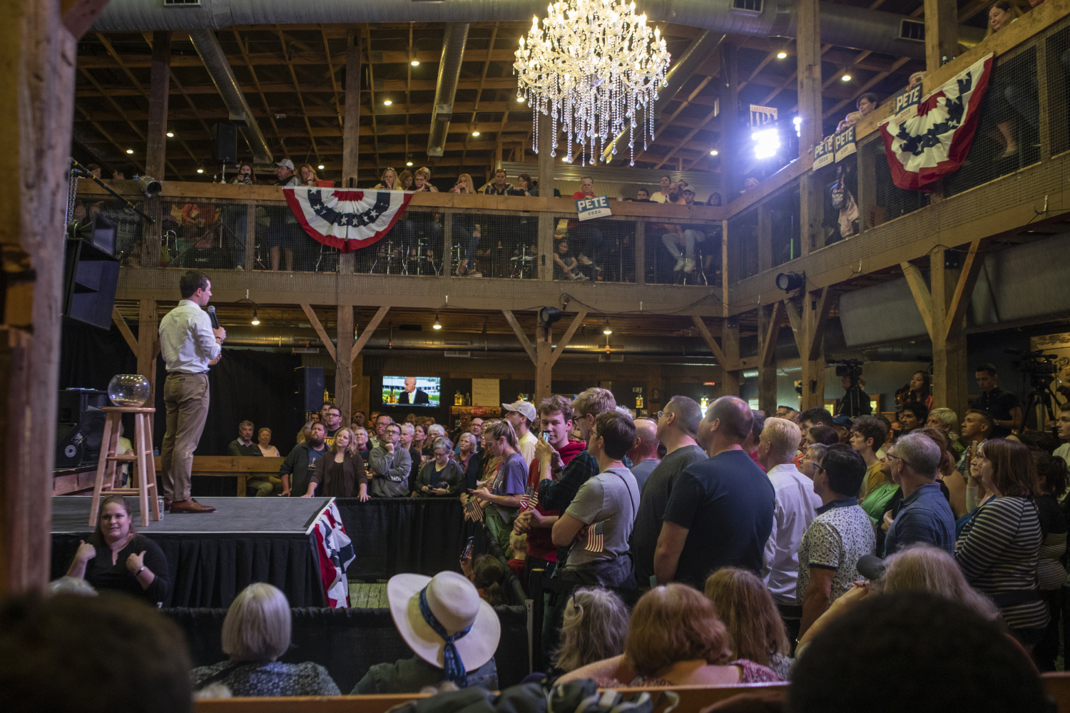 2020+Democratic+presidential-nomination+candidate+Pete+Buttigieg+speaks+during+the+town+hall+at+the+Wildwood+Smokehouse+%26+Saloon+on+May+18%2C+2019.+The+Iowa+City+event+marked+the+third+of+four+Iowa+campaign+stops+for+Buttigieg+this+weekend.