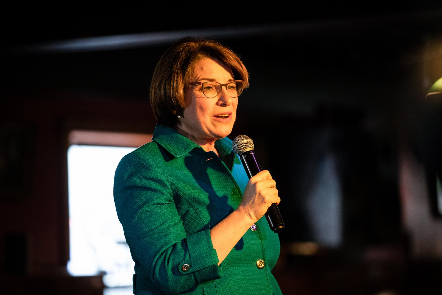 Sen. Amy Klobuchar, D-Minn., visited Iowa City Saturday, where she honed in on her mental-health and substance-abuse plans.