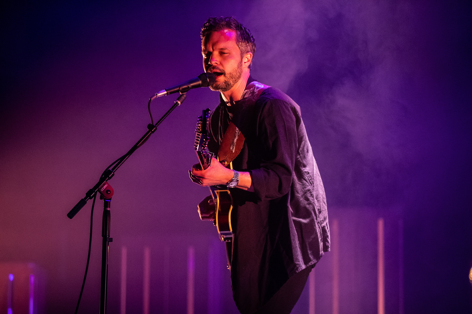 Kristian Matsson sings during a performance by The Tallest Man On Earth at the Englert Theater on Thursday, May 2, 2019. Matsson, the brain behind The Tallest Man on Earth, released his latest album I Love You. It's a Fever Dream. released on April 19, 2019.