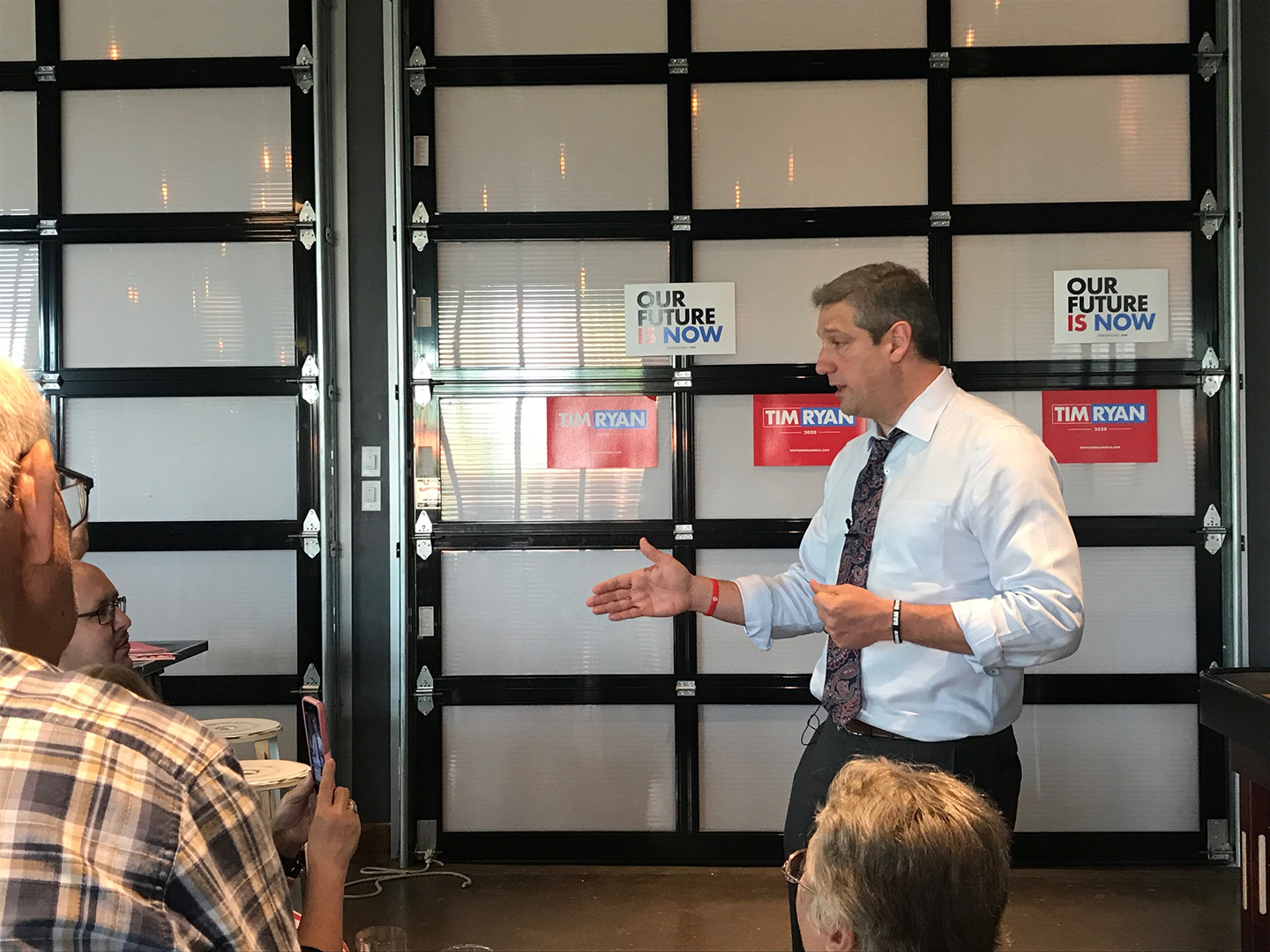 Tim Ryan, Ohio Congressman and 2020 Democratic presidential-nomination candidate, holds a Q&A at Big Grove Brewery in Iowa City on May 31.