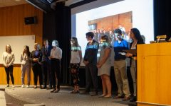 The 13 students of the Fieldwork in Social Innovation class present their ideas to change-makers from across Iowa City on Wednesday, May 1. The class, which is in its fourth year, is housed in the Honors Program and allows students to explore problems