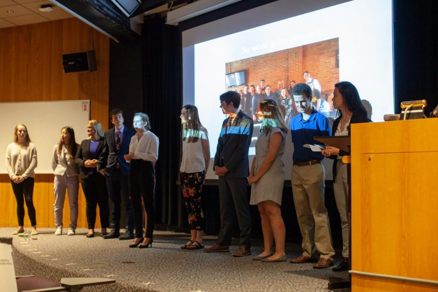 The+13+students+of+the+Fieldwork+in+Social+Innovation+class+present+their+ideas+to+change-makers+from+across+Iowa+City+on+Wednesday%2C+May+1.+The+class%2C+which+is+in+its+fourth+year%2C+is+housed+in+the+Honors+Program+and+allows+students+to+explore+problems+%22that+keep+them+up+at+night%2C%22+Instructor+Dave+Gould+said.
