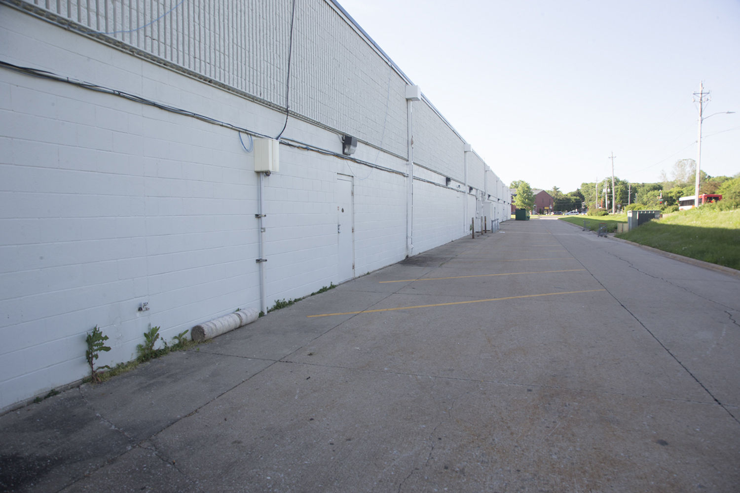 The future site of the Southside community mural is seen on Wednesday, June 5, 2019. The mural will be located off of Broadway St. by Faith Academy in Iowa City. (Emily Wangen/The Daily Iowan)