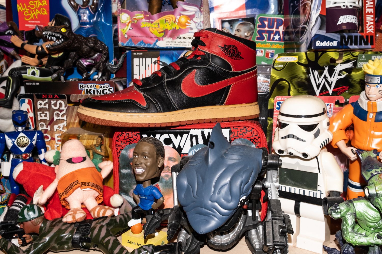 Vice's Jordan 1 Player Exclusive sample shoe is seen in an alley on Monday, June 24, 2019. (Wyatt Dlouhy/The Daily Iowan)