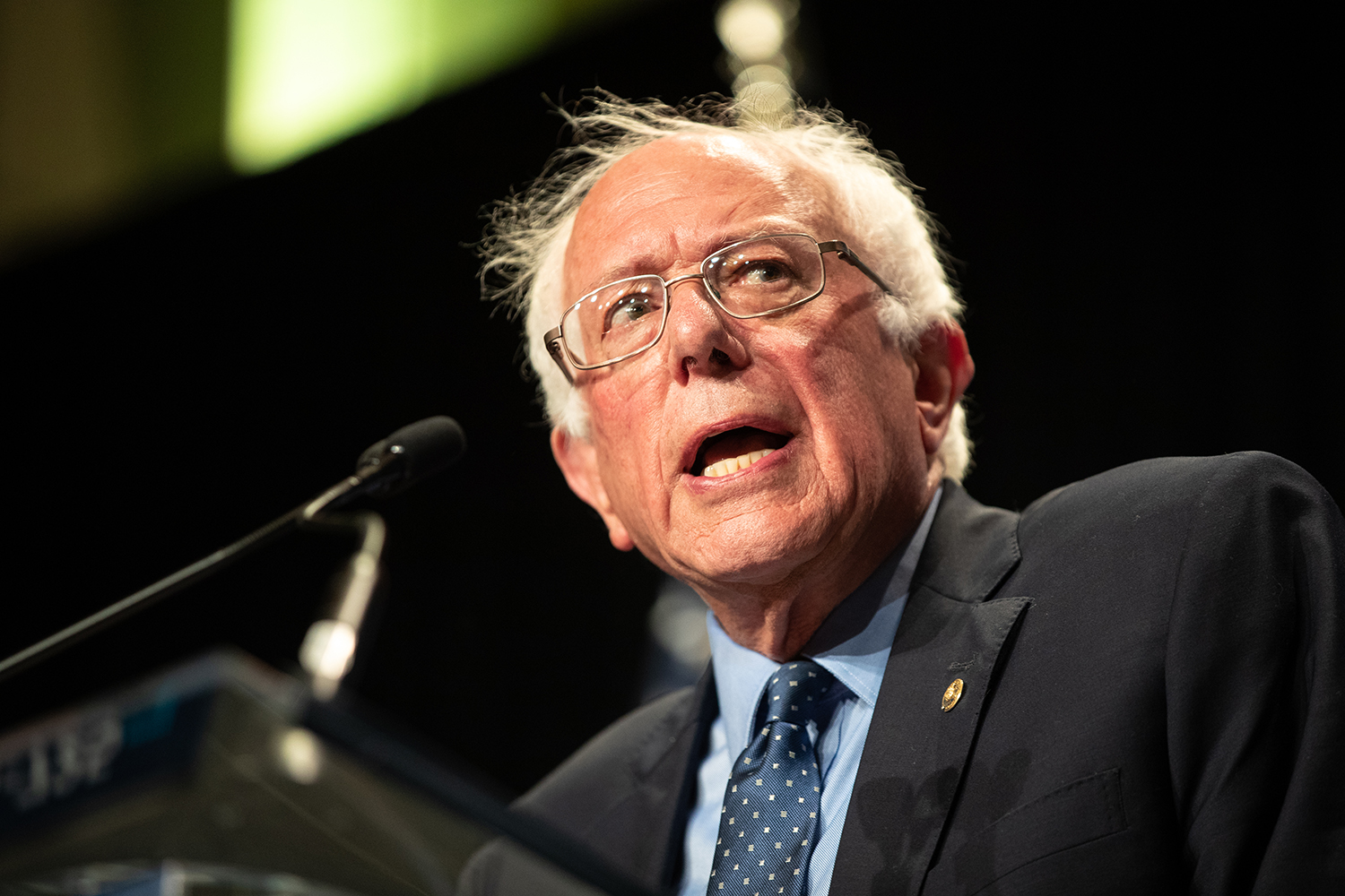 2020 Democratic Presidential candidate Bernie Sanders speaks at Doubletree Hilton Hotel in Cedar Rapids on Sunday, June 9, 2019. 19 democrats spoke at the Iowa Democratic Party Hall of Fame.