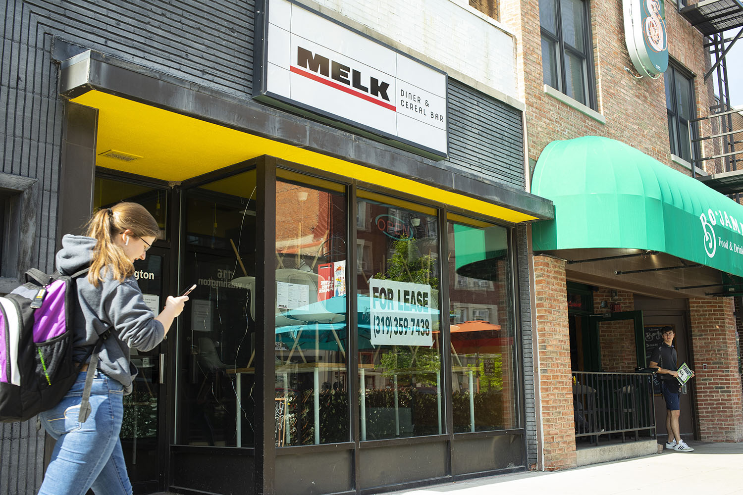 Melk's closed location is seen on Monday, June 17th, 2019.(Michael Guhin/The Daily Iowan)