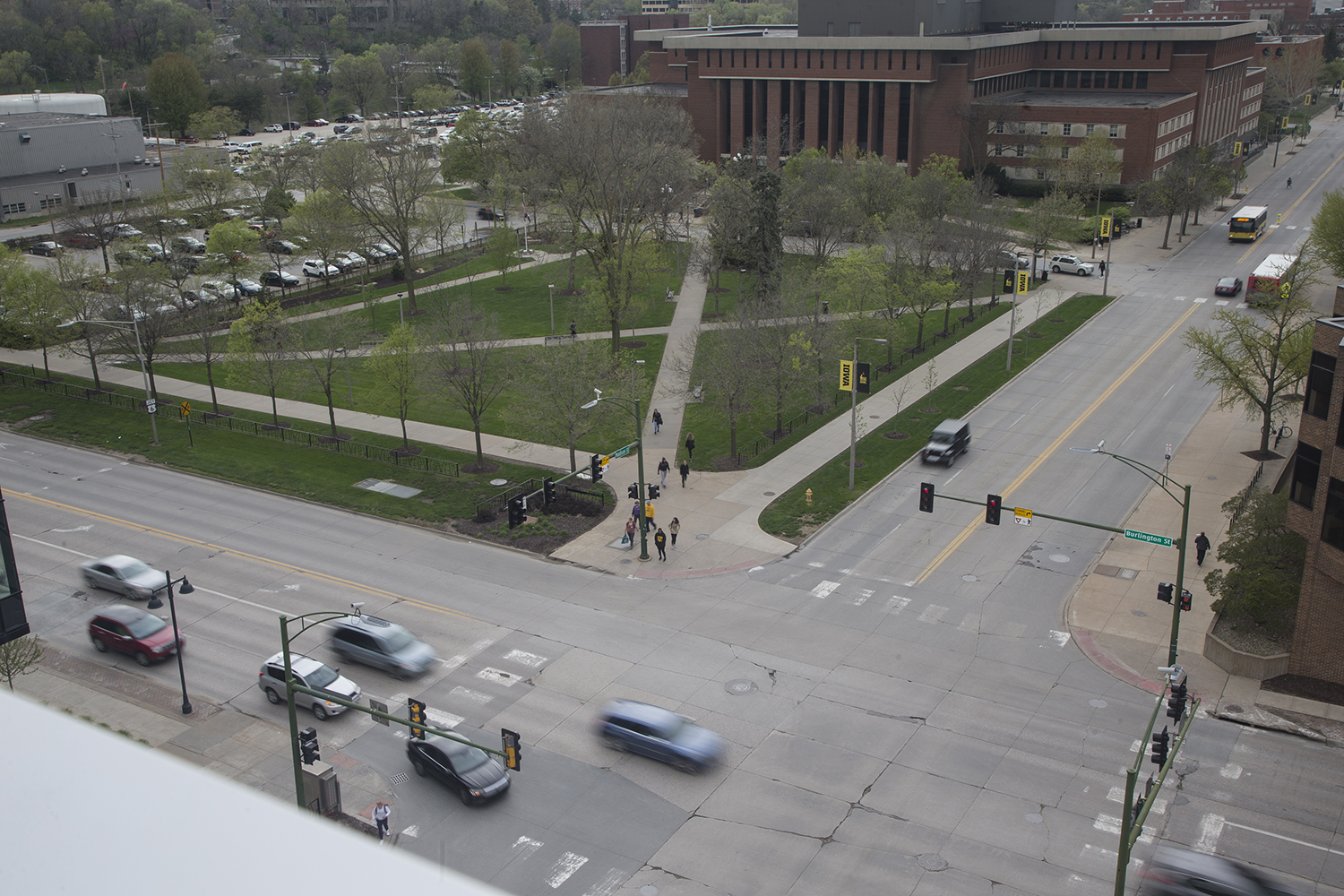 Gibson Square is seen on May 1, 2019. Gibson Square will be the sight of the new Stanley Art Museum. (Katie Goodale/The Daily Iowan)