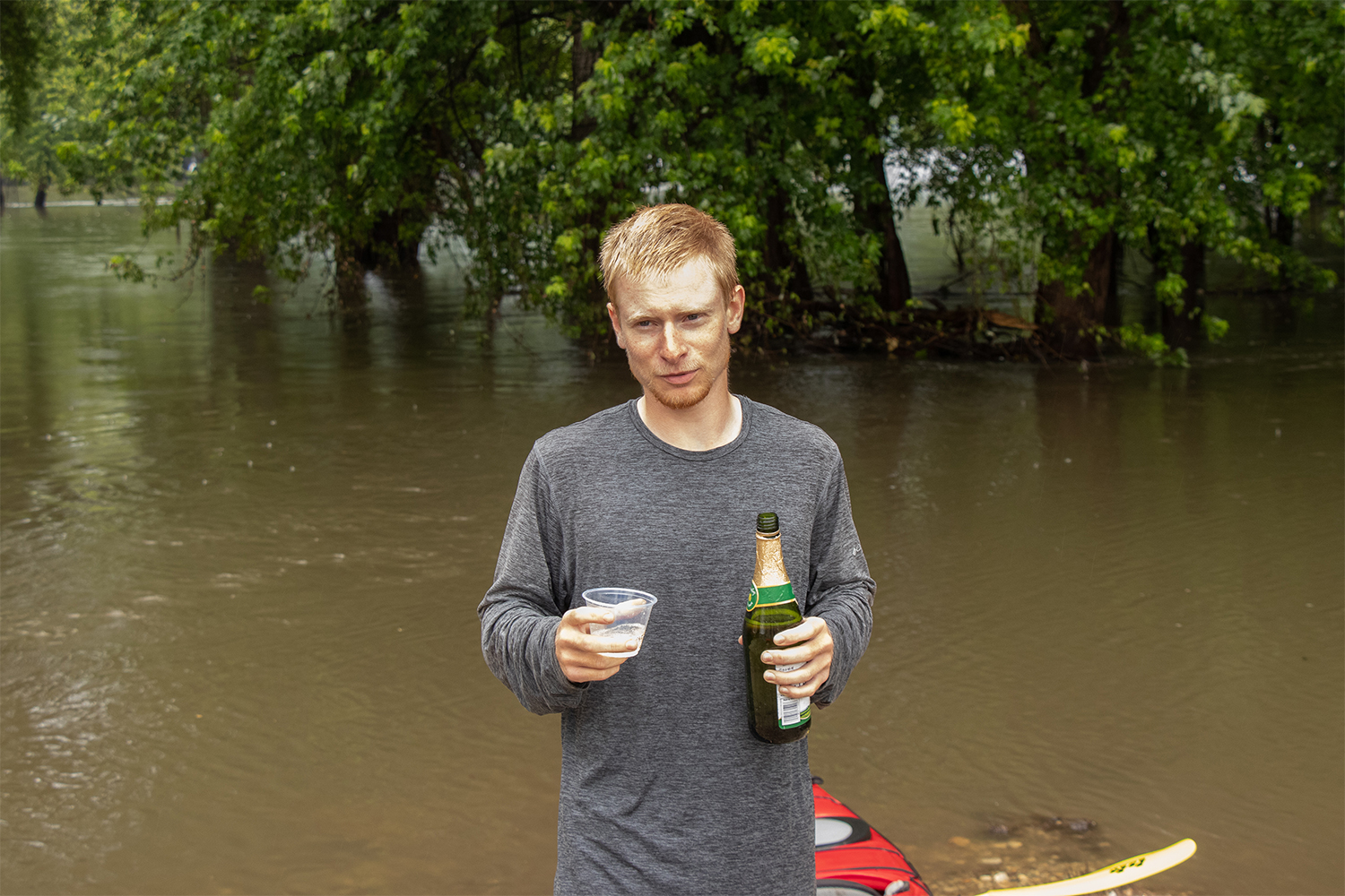 Daily+Iowan+Photojournalist+Ryan+Adams+enjoys+a+glass+of+sparkling+grape+juice+in+celebration+of+the+end+of+his+329-mile+expedition+of+the+Iowa+River.+Adams+spent+27+days+on-and-off+the+river+dedicated+to+researching+nutrient+levels%2C+interviewing+people%2C+and+documenting+his+journey.+