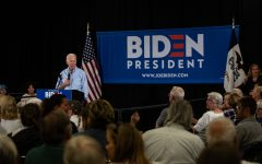 Biden highlights progressive issues in Clinton campaign stop