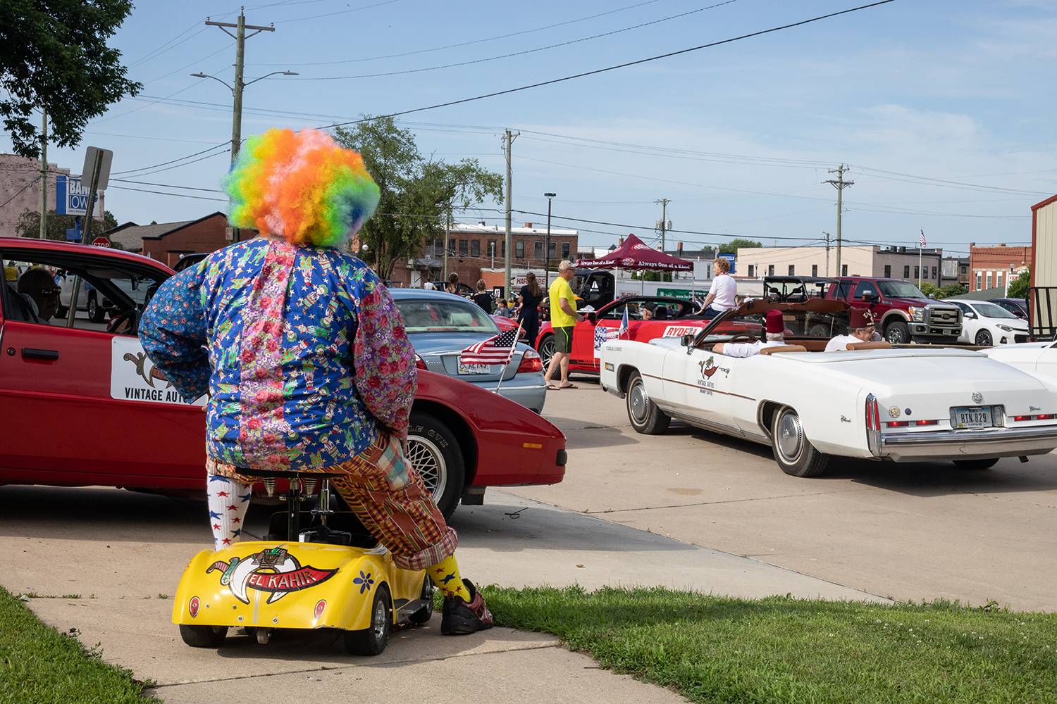 Vintage+Auto+Shrine+Member+Bruce+Herbert+sits+atop+his+vehicle+before+the+annual+4th+of+July+parade+in+Independence%2C+Iowa.+This+is+the+159th+4th+of+July+parade+in+Independence.+