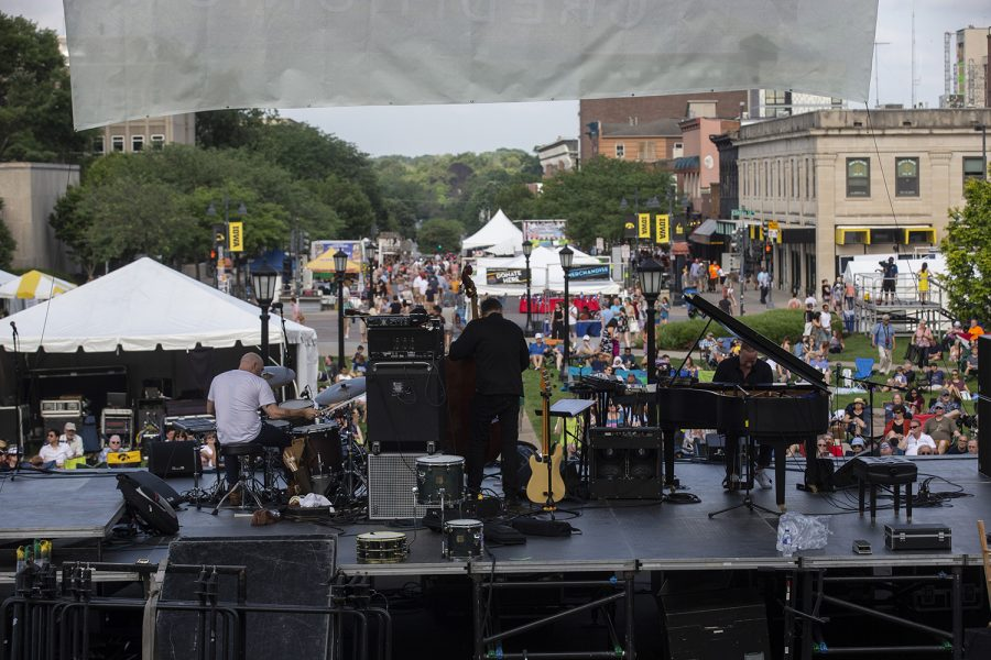 Craig+Taborn+Daylight+Ghosts+Quartet+performs+during+the+second+night+of+the+Iowa+City+Jazz+Festival+in+downtown+Iowa+City+on+July+6%2C+2019.++