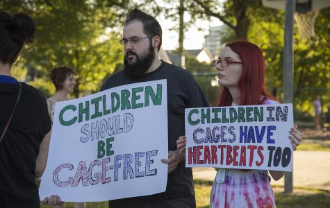Iowa City residents hold vigil to end ICE raids and border camps