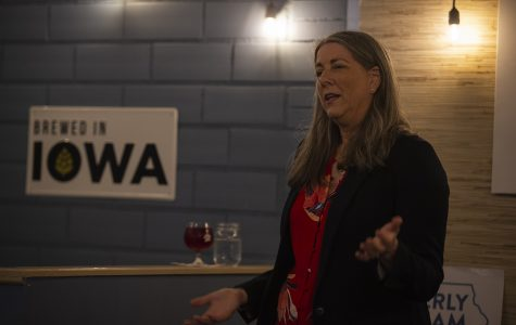 U.S. Senate candidate Kimberly Graham talks campaign finance and health care in Iowa City
