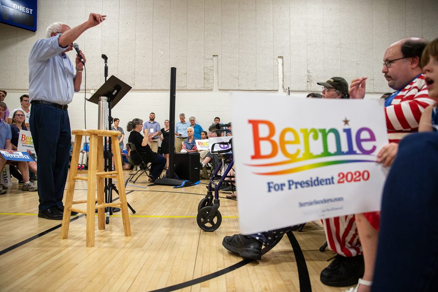 U.S.+Sen.+Bernie+Sanders%2C+I-Vermont%2C+speaks+to+supporters+during+an+ice+cream+social%2C+Tuesday%2C+July+2%2C+2019%2C+at+the+Robert+A.+Lee+Recreation+Center+in+Iowa+City%2C+Iowa.
