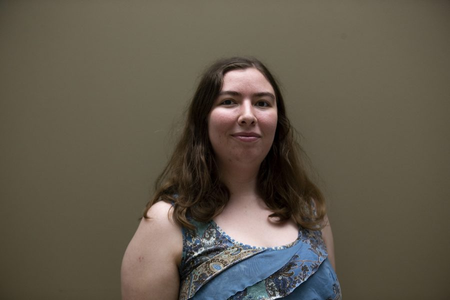 Fubright scholar Brittany Anderson poses for a portrait on July 19, 2019. Anderson will travel to Sierra Leone to examine how Ebola survivors navigate social, economic, and medical hardships. (Emily Wangen/The Daily Iowan)