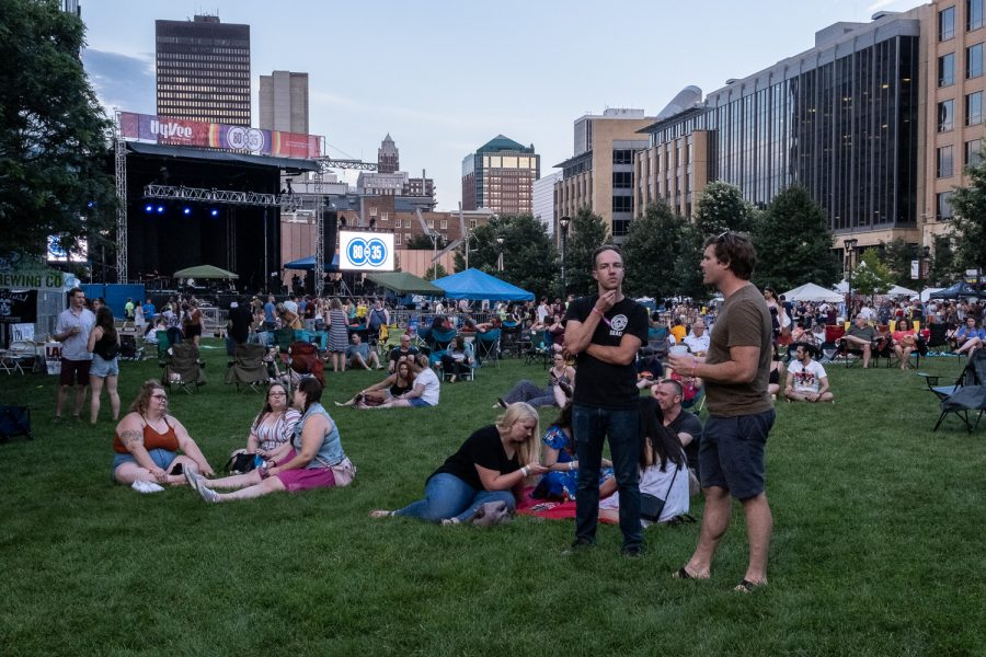 The festival ground is seen during the 2019 80/35 Festival in downtown Des Moines on Friday, July 12, 2019.