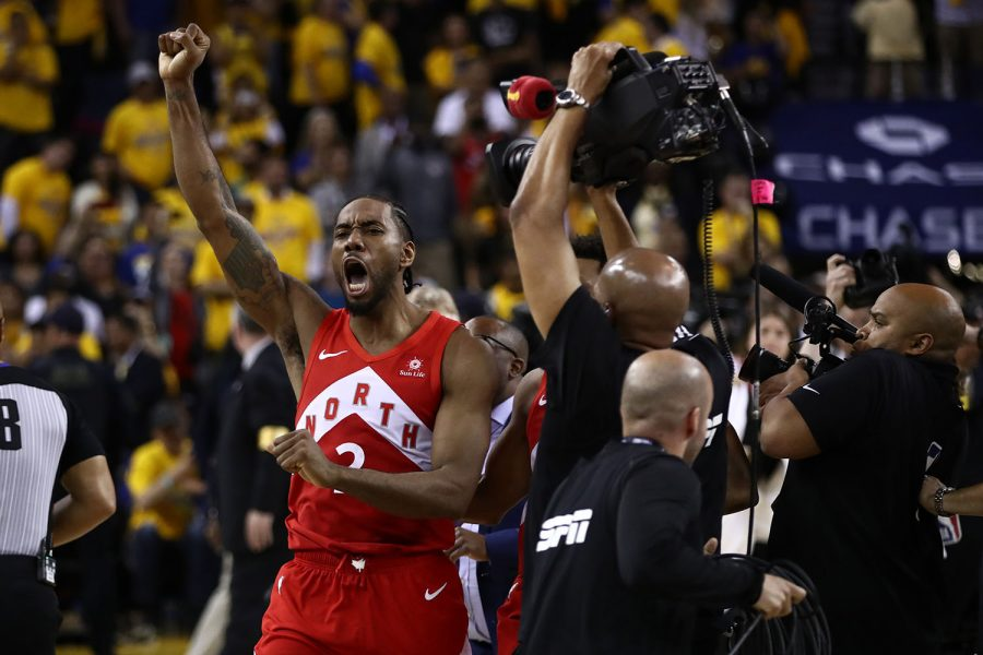 Kawhi+Leonard+of+the+Toronto+Raptors+celebrates+his+team%26apos%3Bs+win+against+the+Golden+State+Warriors+to+capture+the+NBA+championsip+at+ORACLE+Arena+in+Oakland%2C+Calif.%2C+on+June+13%2C+2019.+%28Ezra+Shaw%2FGetty+Images%2FTNS%29+%2A%2AFOR+USE+WITH+THIS+STORY+ONLY%2A%2A