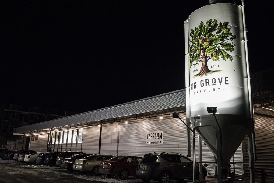Big Grove Brewery & Taproom is seen on Wednesday, Jan. 17, 2018. (Ben Allan Smith/The Daily Iowan)
