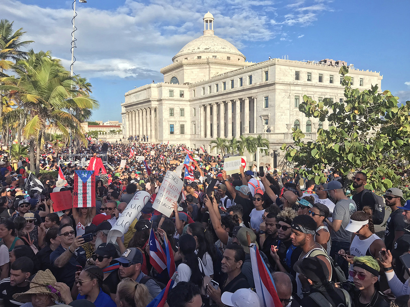 Massive protests calling for Puerto Rican governor's Ricardo