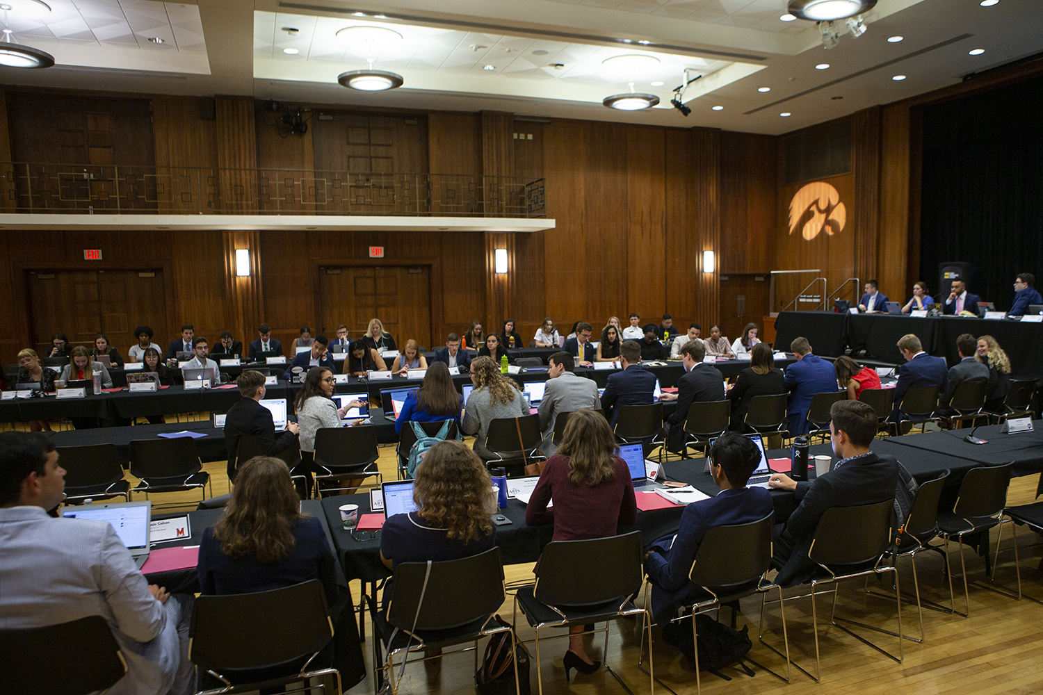 UISG senators discuss legislation for all Big 10 universities during the Big 10 UISG conference in the Second Floor Ballroom of the IMU on July 20, 2019.