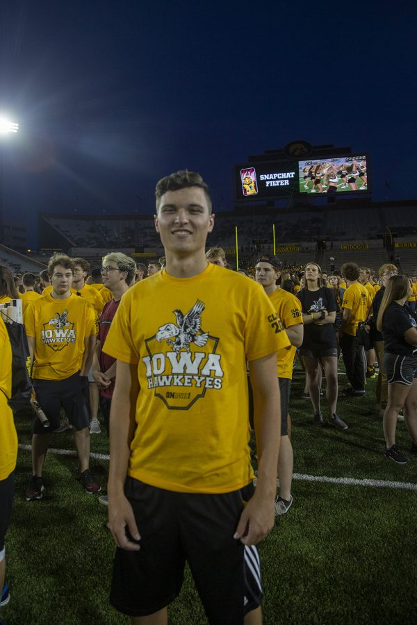 Kadel Coakley poses for a portrait at the Kickoff at Kinnick for On Iowa! on Friday, August 23.