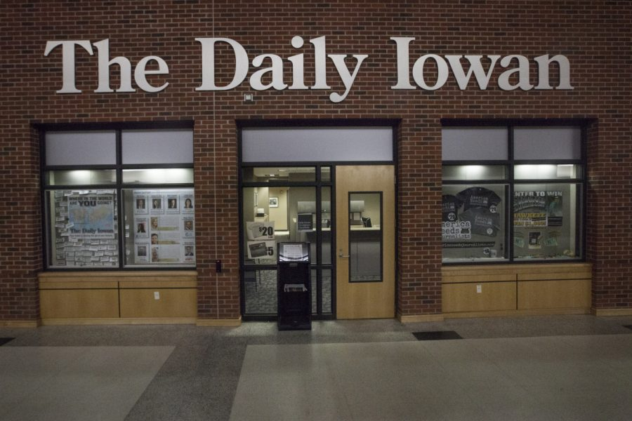 The Daily Iowan newsroom is seen on Feb. 26, 2019.
