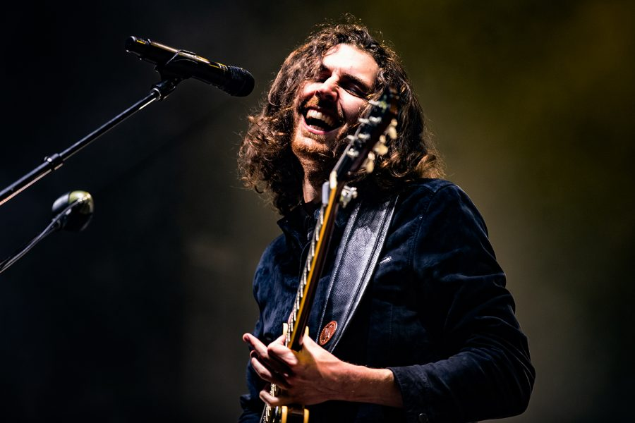 Hozier the band plays at the Hinterland music festival on August 2, 2019 in St. Charles, Iowa.