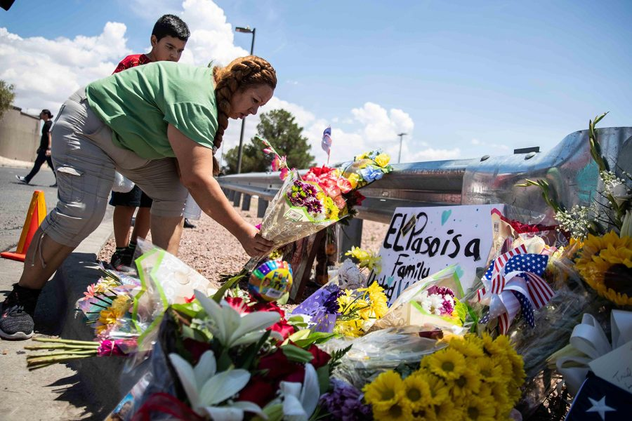 Carmen+Roldan+brings+some+flowers+to+honor+the+memory+of+the+victims+of+the+mass+shooting+occurred+in+Walmart+on+Saturday+morning+in+El+Paso+on+Sunday%2C+August+4%2C+2019.+%5BLOLA+GOMEZ+%2F+AMERICAN-STATESMAN%5D