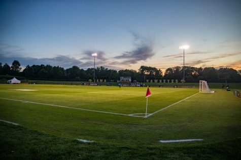 The Iowa Soccer Complex is seen during a women's soccer match between Iowa and Western Michigan on Thursday, August 22, 2019. The Hawkeyes defeated the Broncos, 2-0.