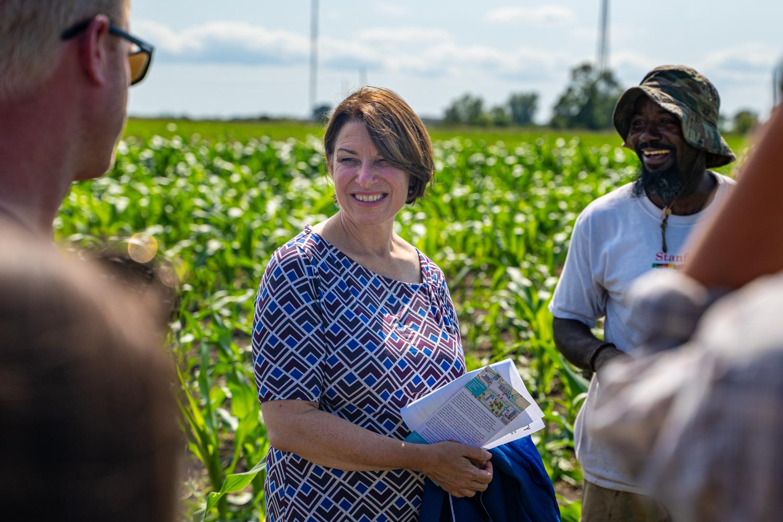 Sen. Amy Klobuchar, D-Minn., takes a tour of the Johnson County Historic Poor Farm in Iowa City on Thursday, August 8, 2019.