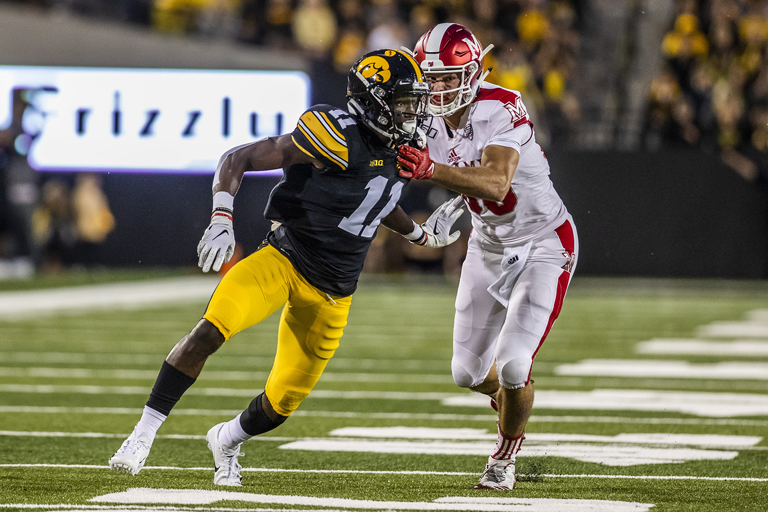 Iowa+defensive+back+Michael+Ojemudia+watches+a+play+during+the+Iowa+football+game+against+Miami+%28Ohio%29+at+Kinnick+Stadium+on+Saturday%2C+August+31%2C+2019.+The+Hawkeyes+defeated+the+Redhawks+38-14.