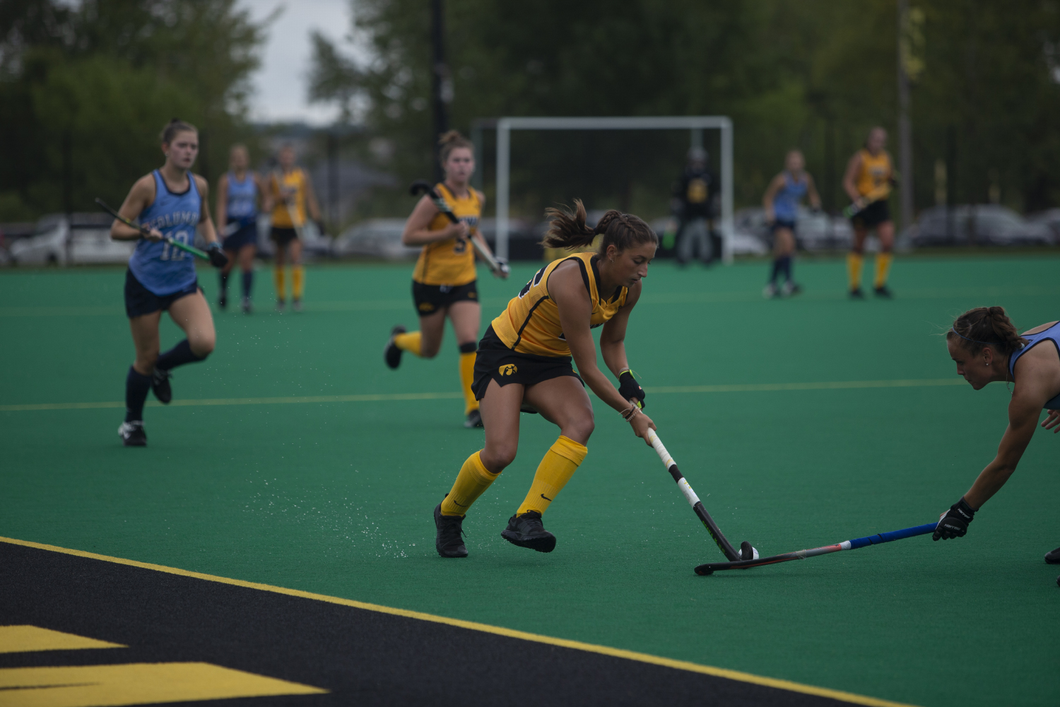 Iowa+midfielder+Isabella+SolaroliI+runs+with+the+ball+during+a+field+hockey+game+between+Iowa+and+Columbia+at+Grant+Field+on+Sunday%2C+September+8%2C+2019.+The+Hawkeyes+defeated+the+Lions%2C+3-1.