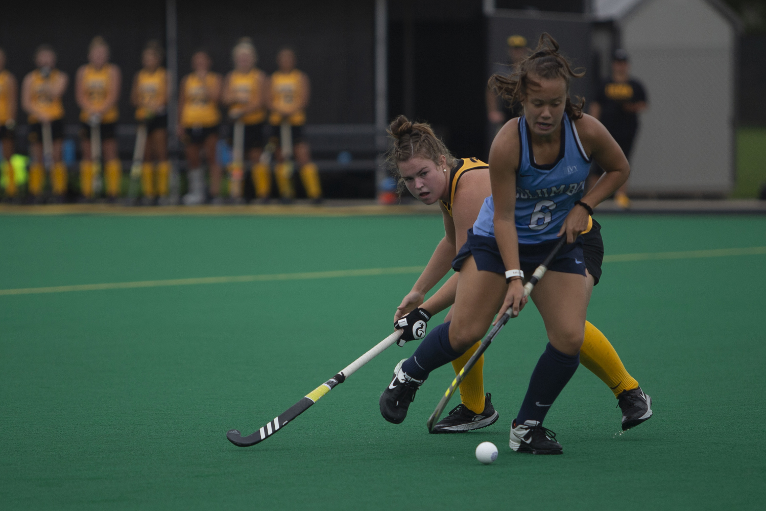 Iowa+midfielder+Meghan+Conroy+tries+to+steal+the+ball+during+a+field+hockey+game+between+Iowa+and+Columbia+at+Grant+Field+on+Sunday%2C+September+8%2C+2019.+The+Hawkeyes+defeated+the+Lions%2C+3-1.