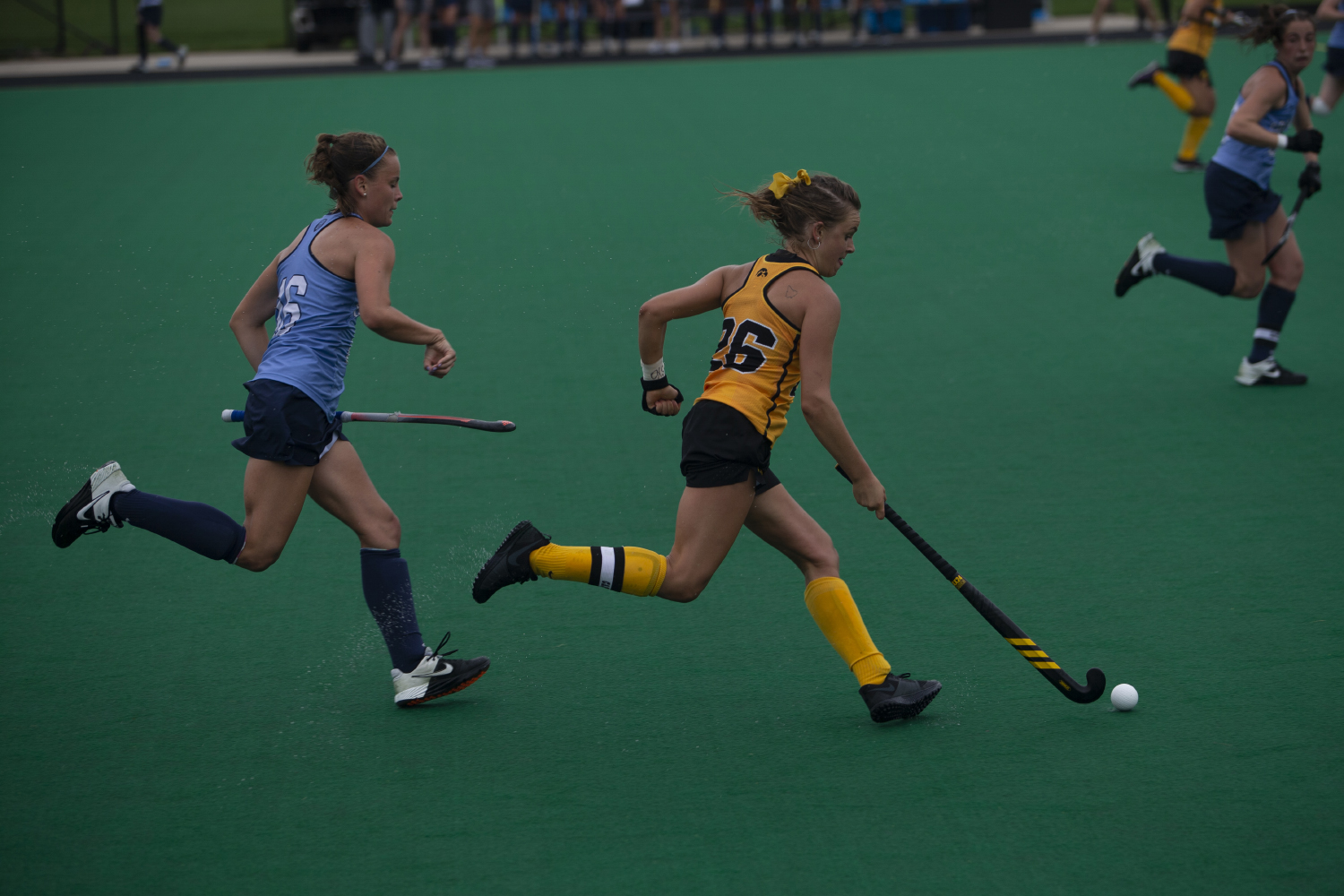Iowa+forward+Maddy+Murphy+runs+the+ball+down+the+field+during+a+field+hockey+game+between+Iowa+and+Columbia+at+Grant+Field+on+Sunday%2C+September+8%2C+2019.+The+Hawkeyes+defeated+the+Lions%2C+3-1.
